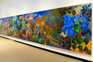 Most modern art is not our thing, but the size and colors certainly grab you attention