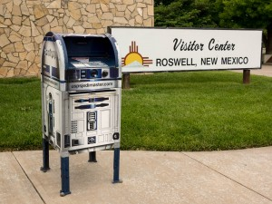 Apparently R2D2 also landed at Roswell and took over the post office