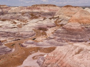 A portion of the Blue Mesa trail