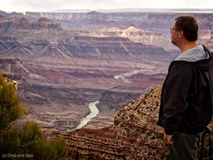 Opa looking over the canyon