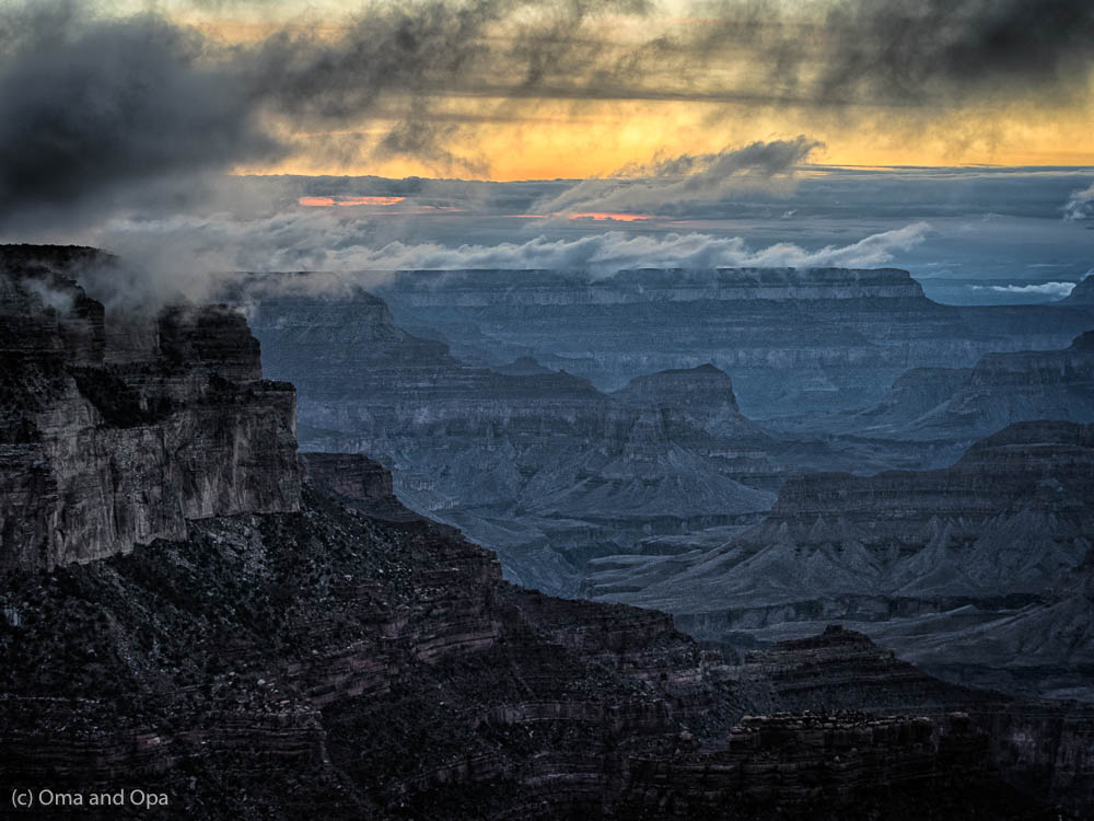 A magical end to our stay at the South Rim
