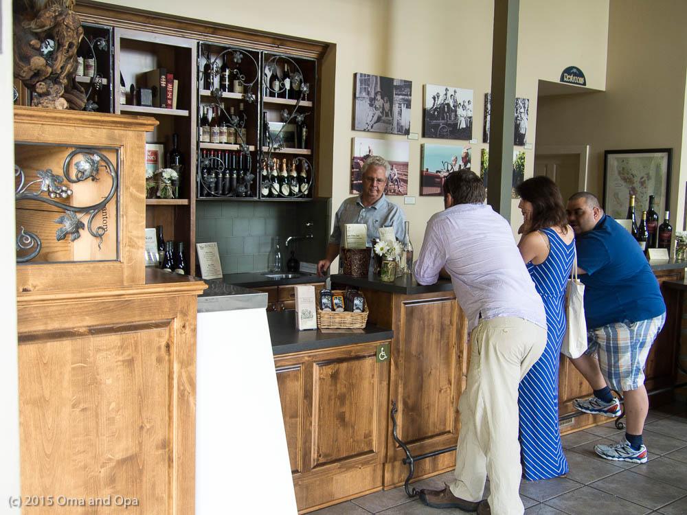 The tasting room at Bogle Vineyards
