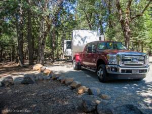 Our site at Mt. Lassen KOA