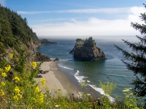 The beaches along the Samual Boardman Scenic Corridor were quiet and beautiful