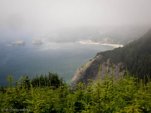 Fog is common on the Oregon coast, especially in the mornings