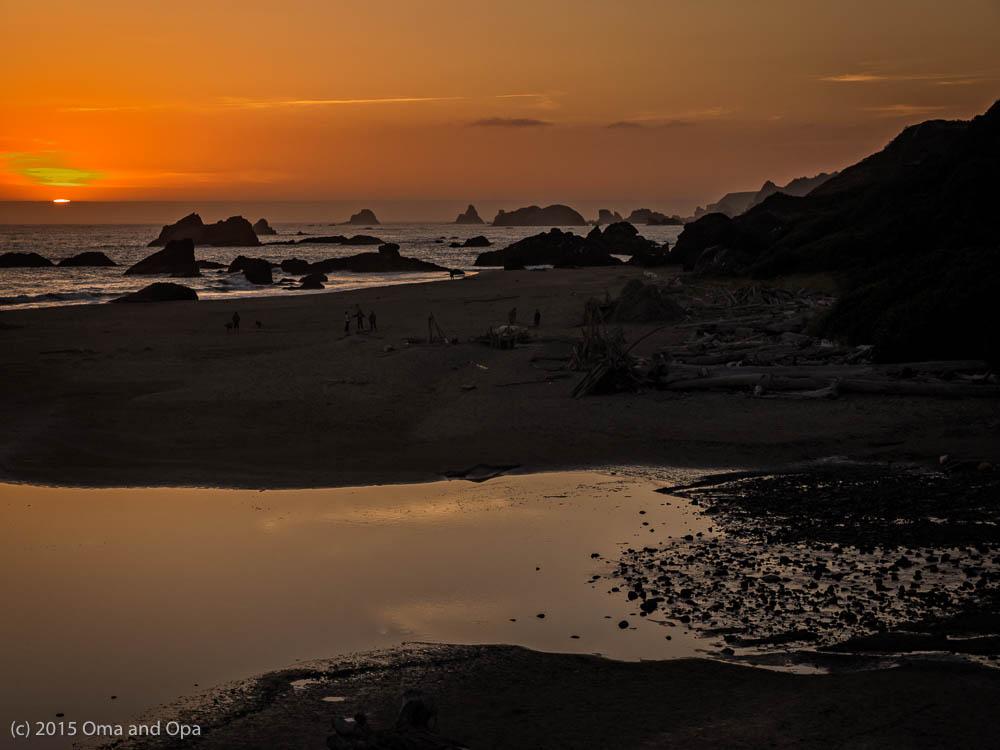 Sunset over Harris Beach