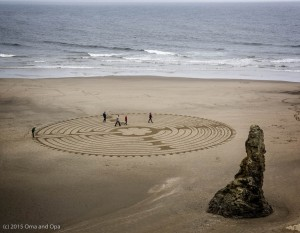 A labyrinth in the sand