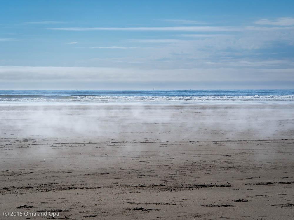 The fog rises above South Beach