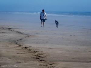 Opa and Coda on the beach