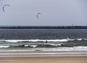 At least the kite surfers enjoyed the wind