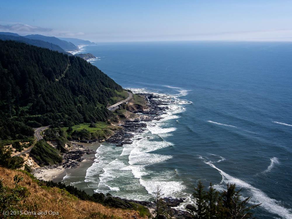 A classic view of the Oregon coast from Cape Perpetua