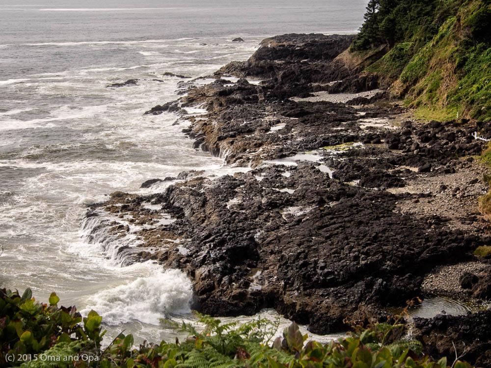 The rugged Oregon coast