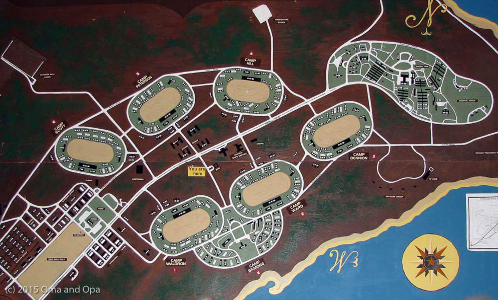 A map of Farragut Naval Base, circa World War II