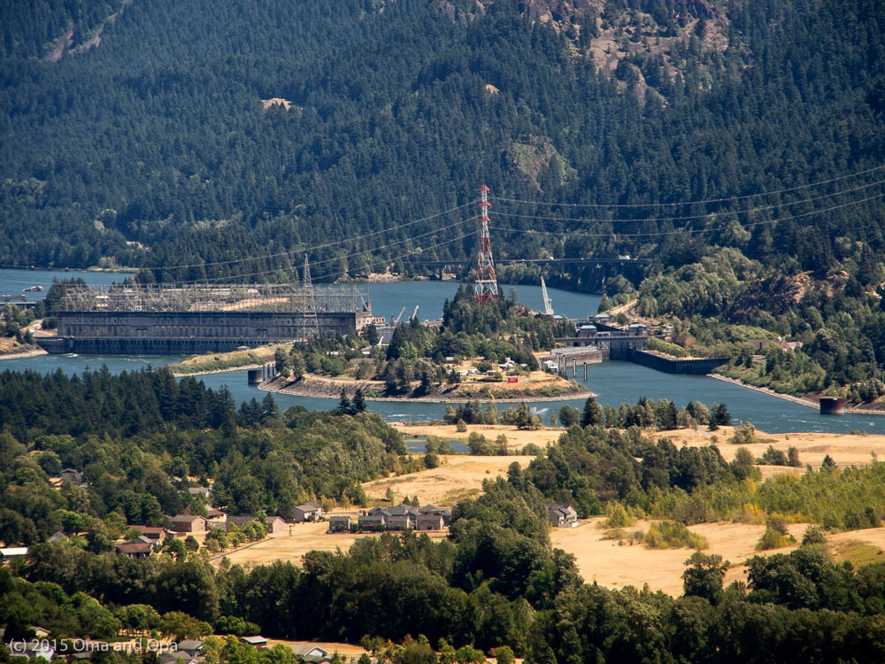 We had a good view of the Bonneville Dam complex from the rock