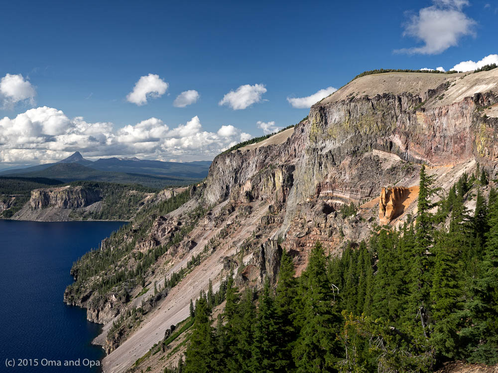Crater Lake, rim and Pumice Castle