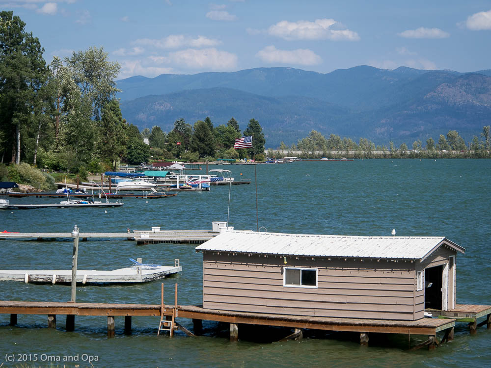 Part of the view from our lunch spot in Sandpoint