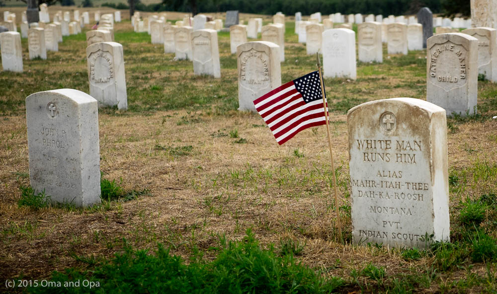 An Indian scout buried in Custer National Cemetery