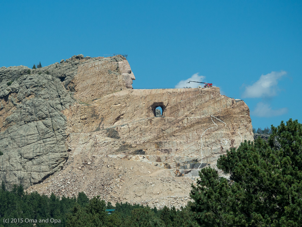 The Crazy Horse memorial doesn't look much different than last time we saw it.