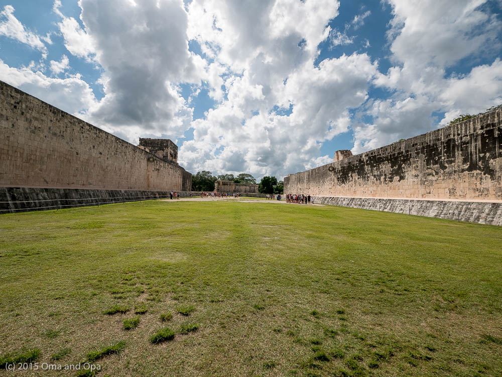 The (very large) ball field at Chichen Itza