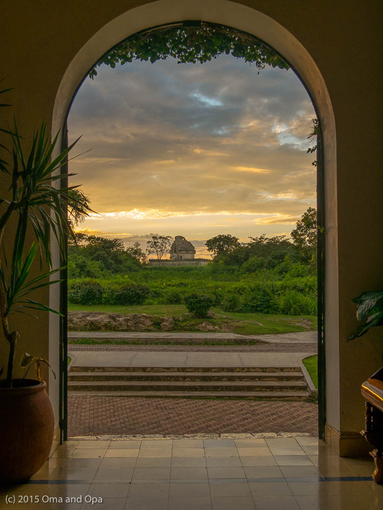 A view of El Caracol from our hotel