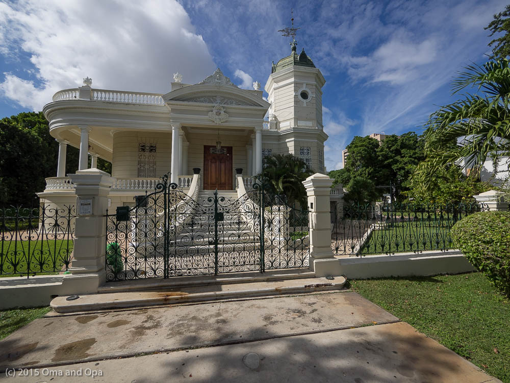 One of the houses along Paseo de Montejo