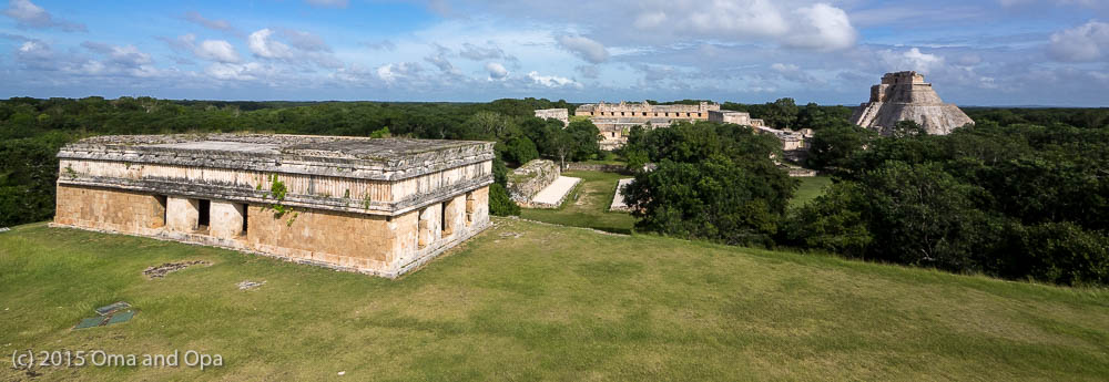 Looking out over central Uxmal