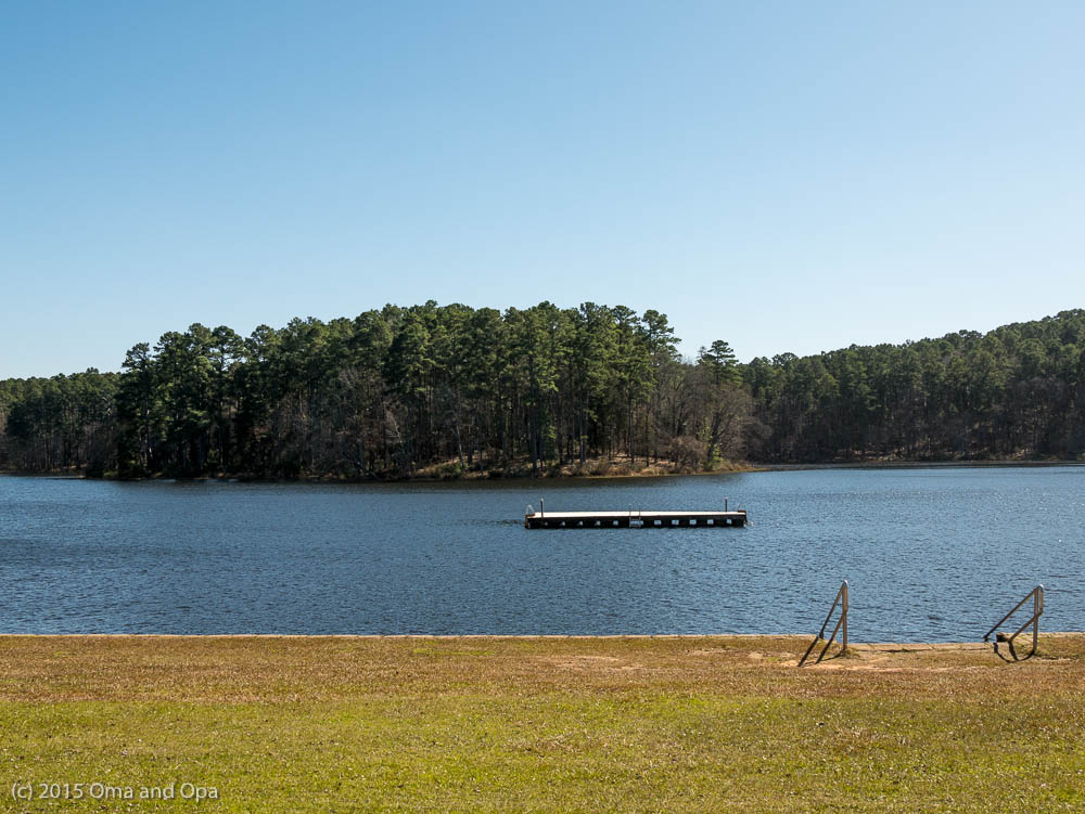 The swim area at Daingerfield State Park