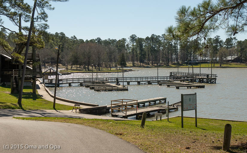 Dock area at Lake Livingston State Park