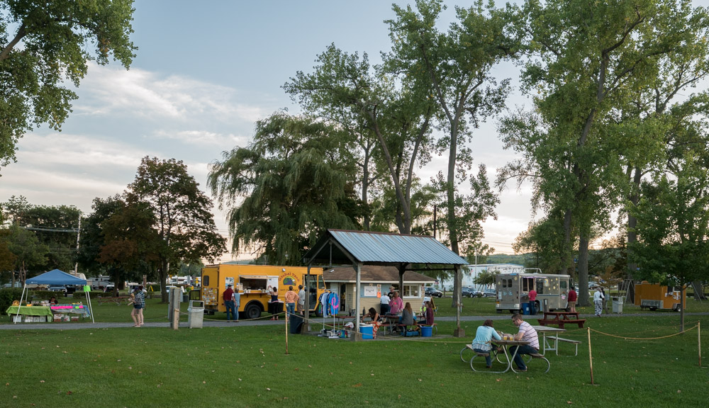 The market in the park on Wednesday was underwhelming this time of year, but we enjoyed tacos and ice cream from the food trucks.