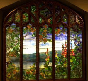 Stained glass by Louis Comfort Tiffany